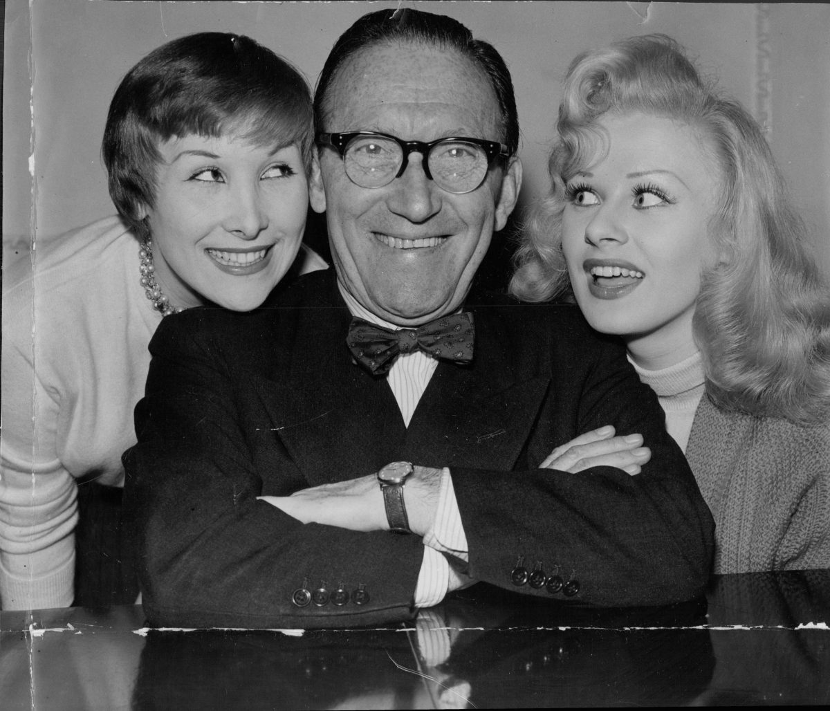 Comedian Arthur Askey Pictured With His Daughter Anthea And Actress Sabrina. 14 Mar 1957