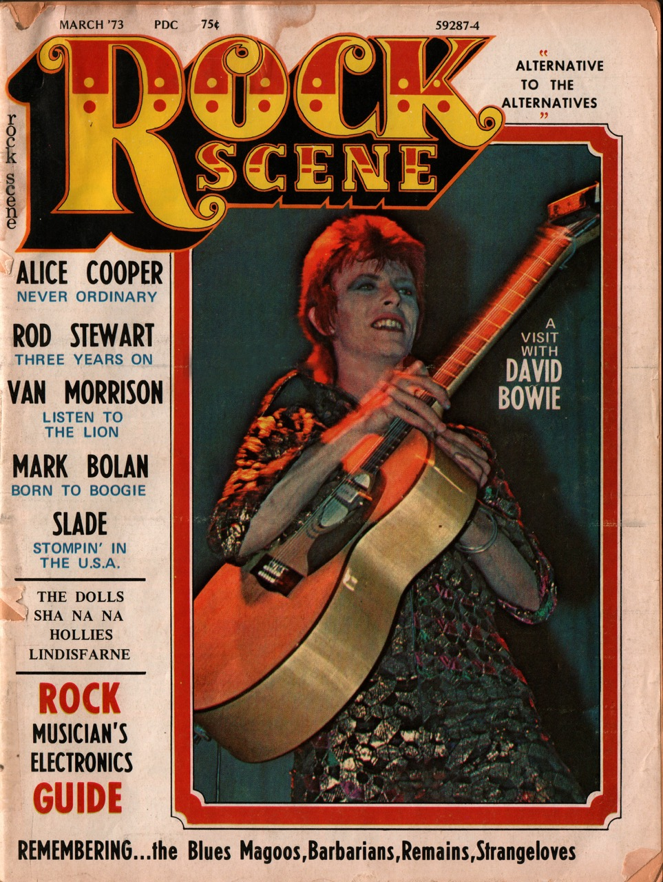 Rock Sene Magazine number 1 david bowie 1973