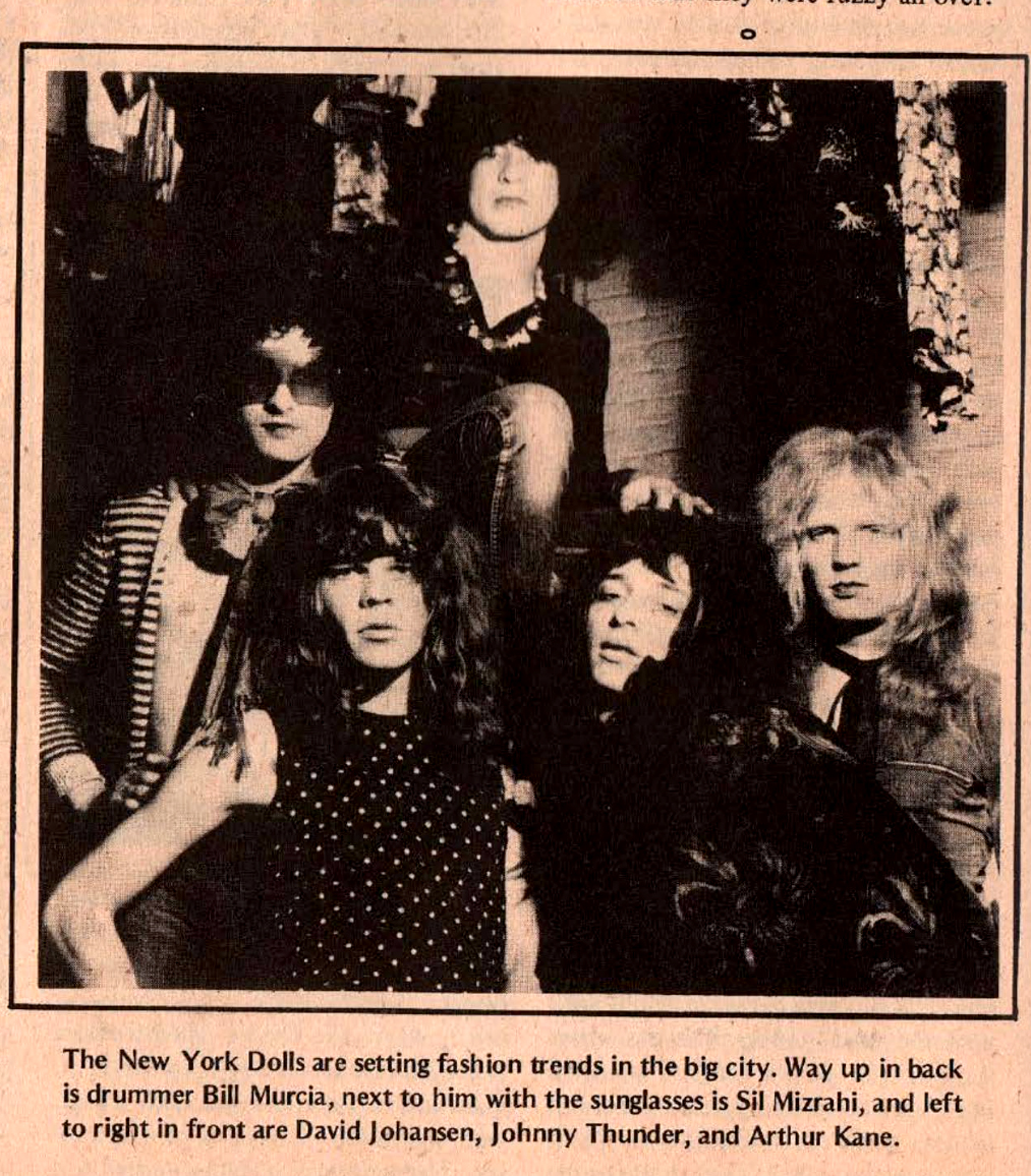 New York Dolls Rock scene 1973