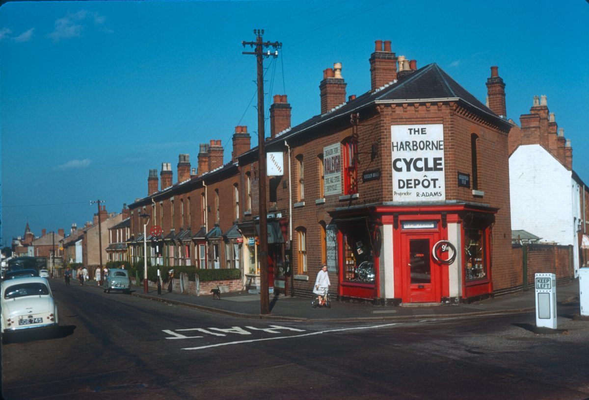 Harborne - Corner of Vivian Road. Greenfield Road to the right - August 17 1961