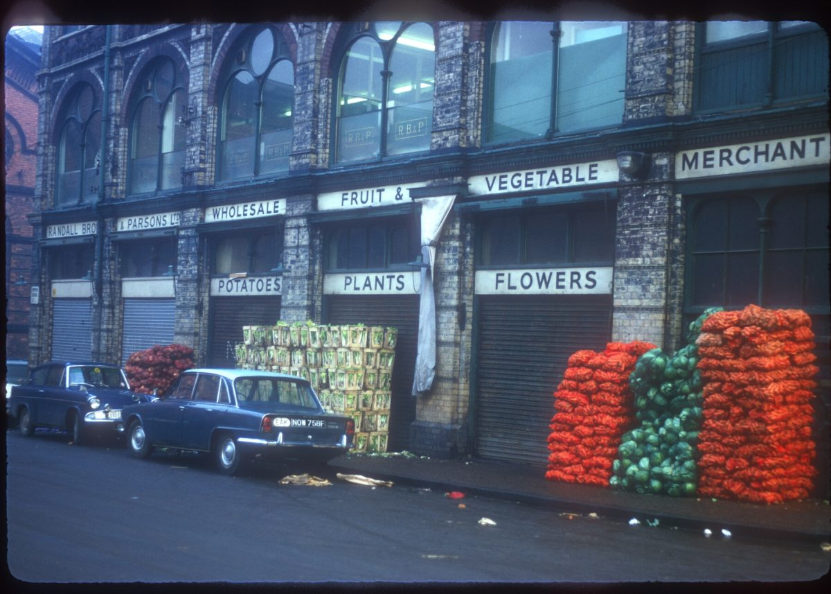 Upper Dean St - Jamaica Row - Market Area, Randall Bros and Parsons Ltd Wholesale fruit and veg merchants - November 1968