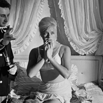 Behind the Scenes Photos of Diana Dors from Michael Winner's 1963 Movie 'West 11