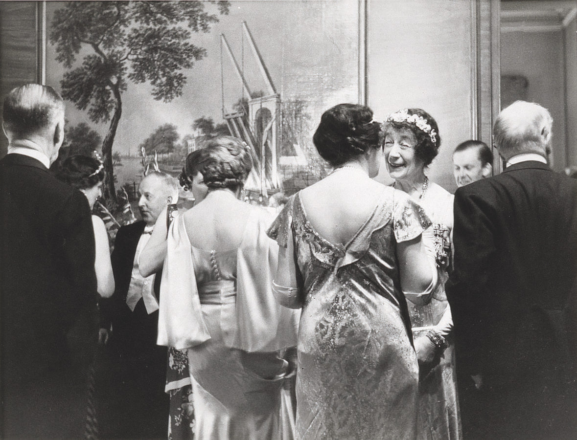At a reception at the Embassy of the Netherlands in London 1937