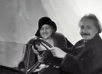 Found Film Shows Albert Einstein Driving A Flying Car (1931)