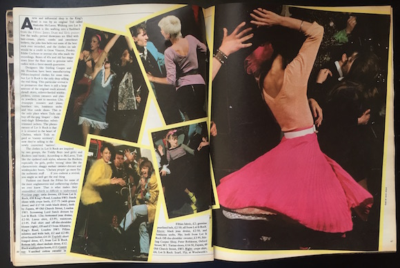 Selection of Let It Rock designs showcased in a May 1972 issue of The Sunday Times Magazine. Photos: Hans Feurer. Paul Gorman Archive