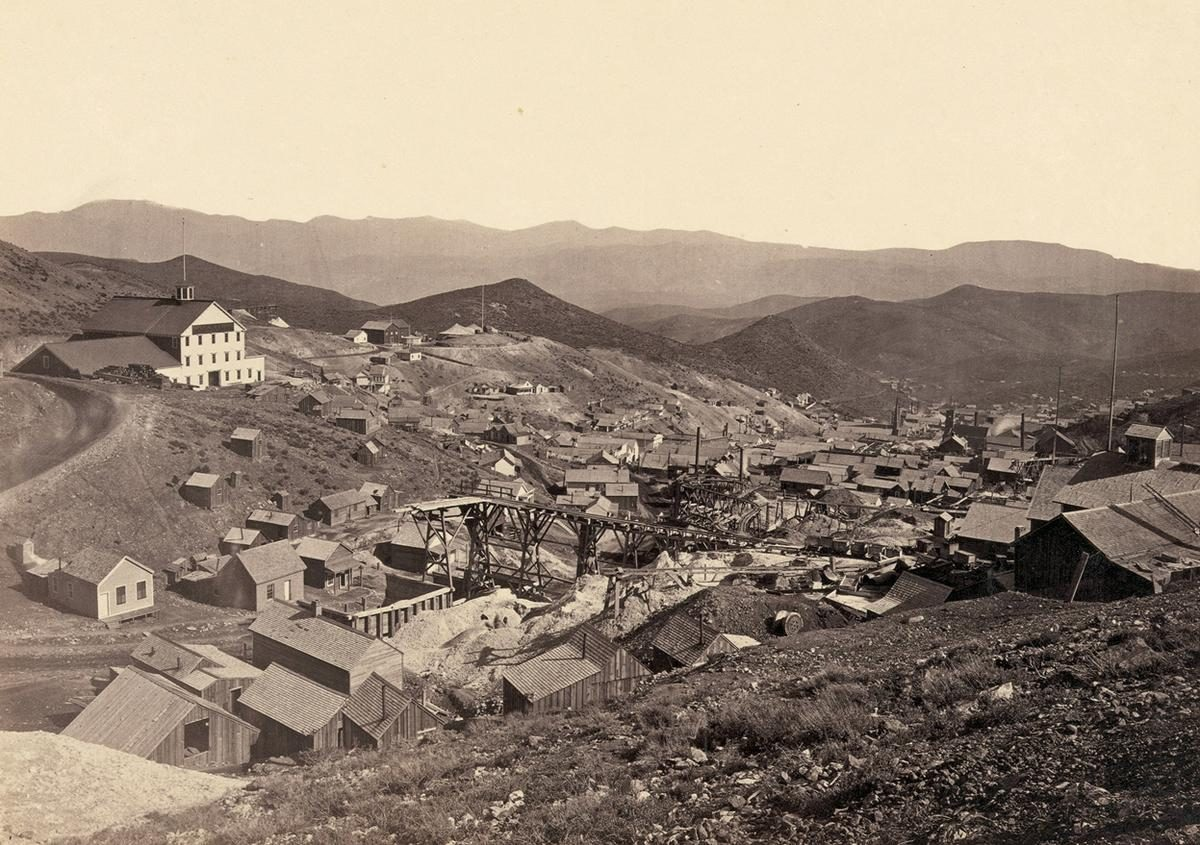 Gold Hill, just south of Virginia City, Nevada, in 1867