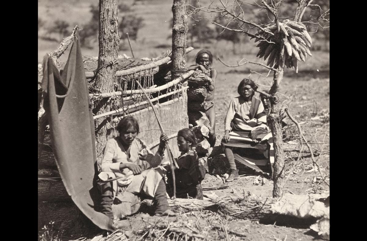 Navajo Indians. Near old Fort Defiance, New Mexico, in 1873