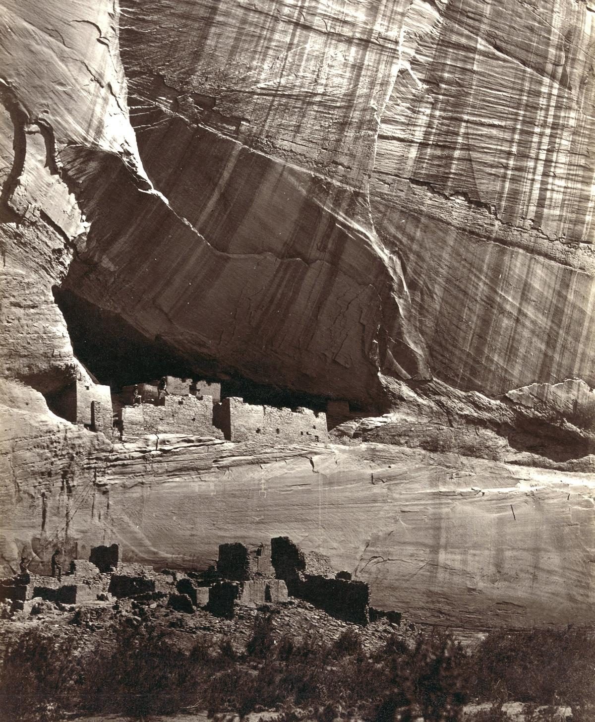 White House, Ancestral Pueblo Native American (Anasazi) ruins in Canyon de Chelly, Arizona, in 1873. The cliff dwellings were built by the Anasazi more than 500 years earlier