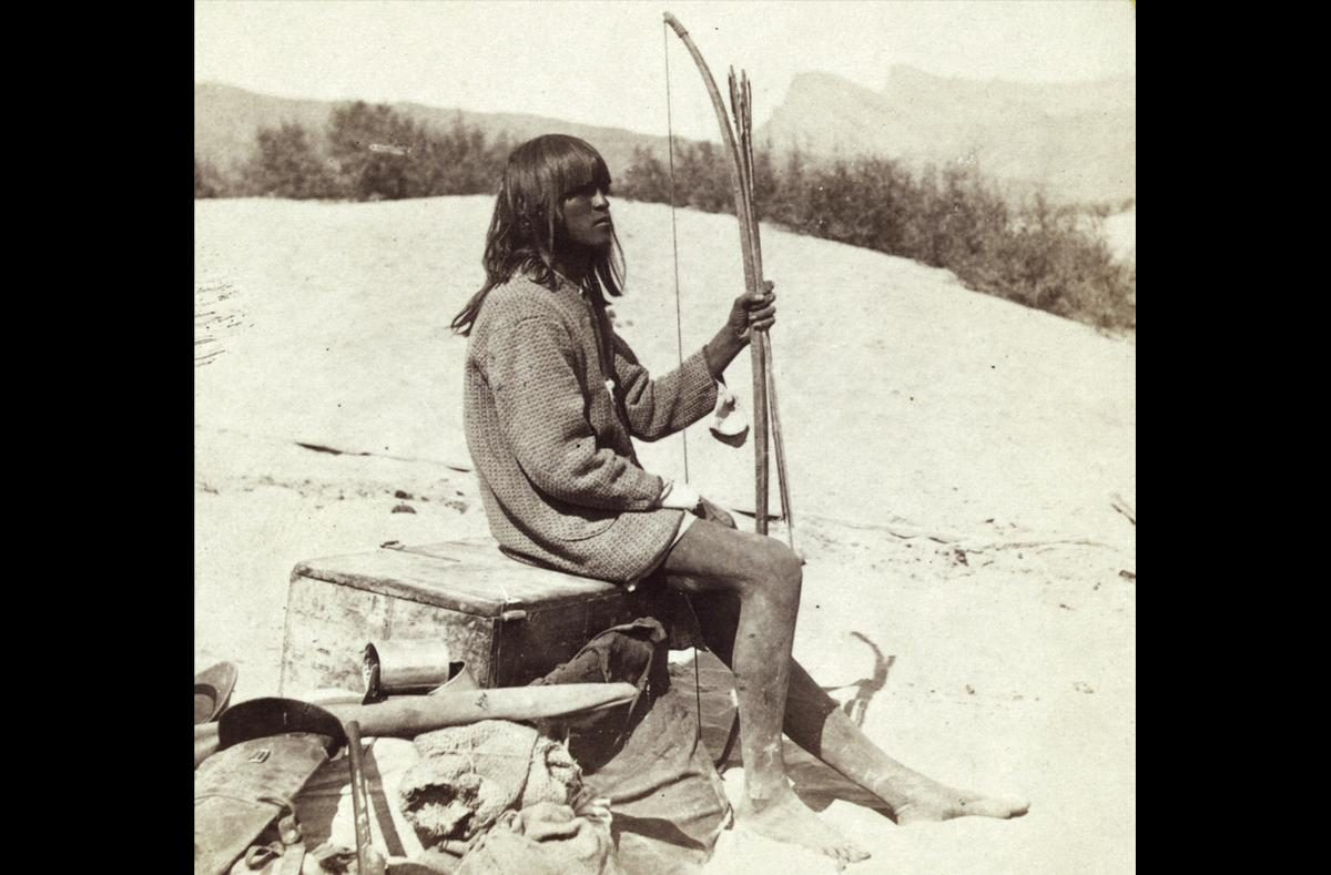 Maiman, a Mojave Indian, guide and interpreter during a portion of the season in the Colorado country, in 1871