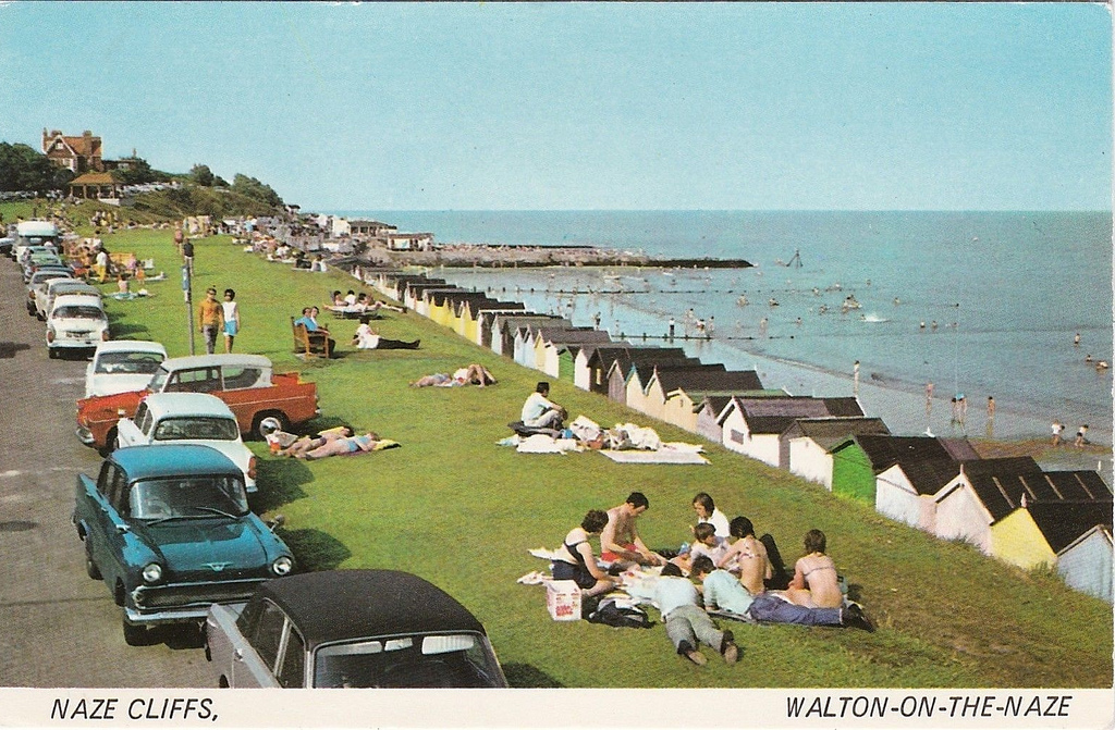 British seaside town postcard