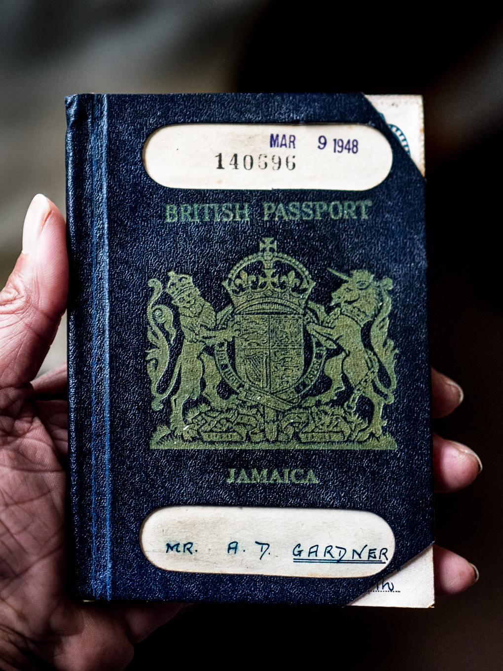 'WINDRUSHER' ALFORD GARDNER: 1948 PASSPORT