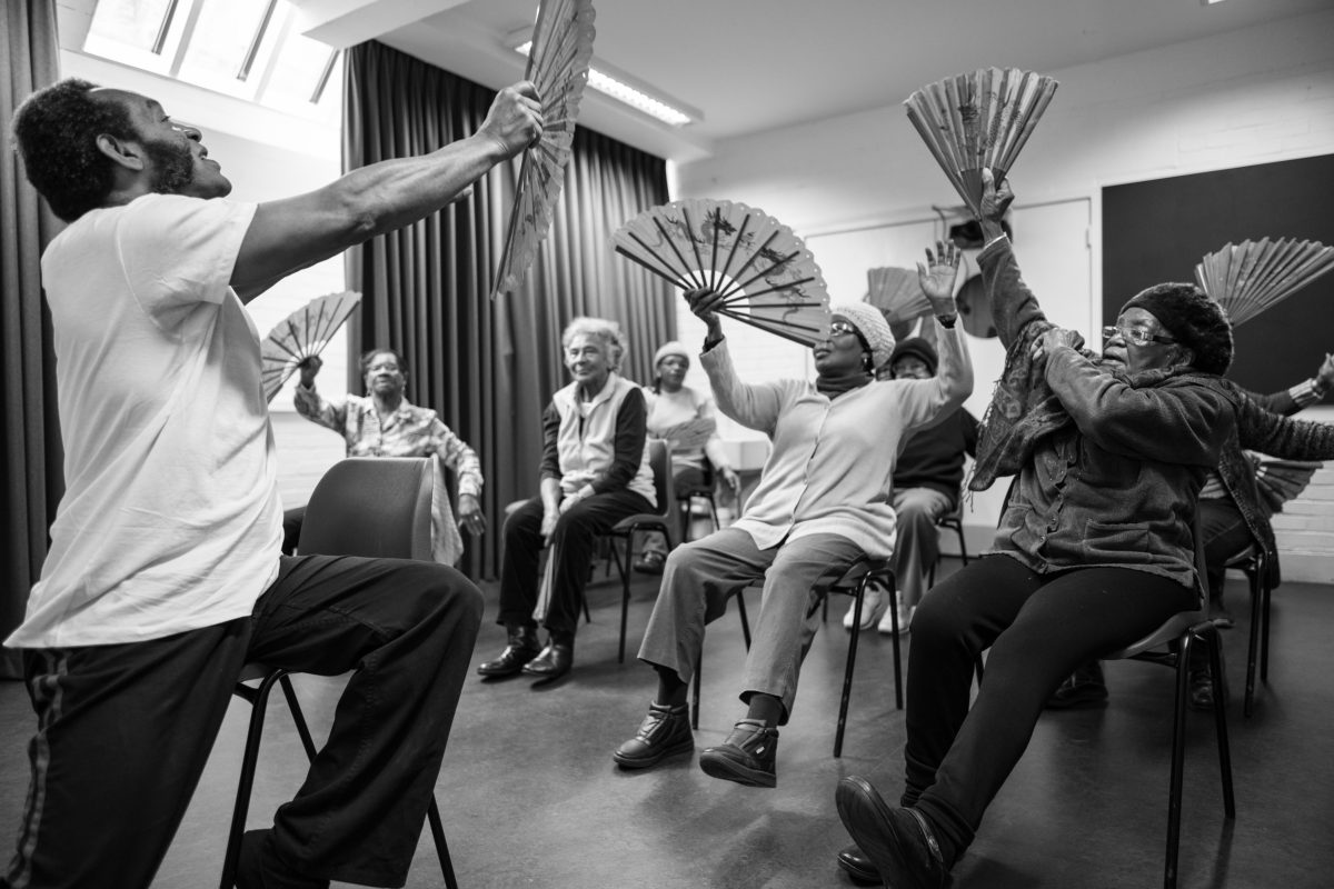 COMMUNITY: TAI CHI AT 'STOCKWELL GOOD NEIGHBOURS' 'Stockwell Good Neighbours' was founded in 1974 to provide a community centre for first generation West Indian immigrants. It still meets weekly. Its 60 members are almost all West Indian women aged between 60 and 103. Tai Chi features each week.