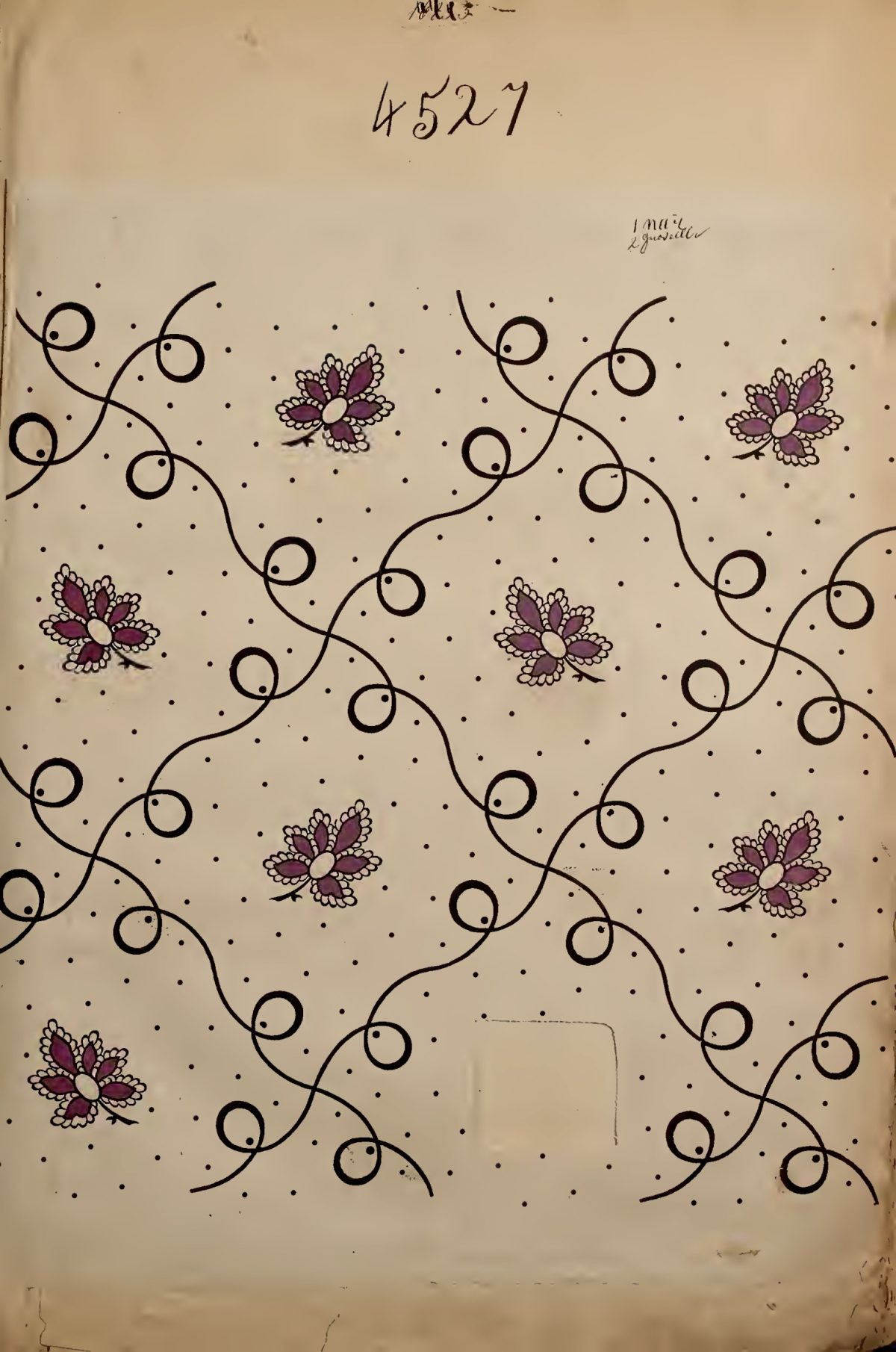 French textile design. Maison Robert. 1863
