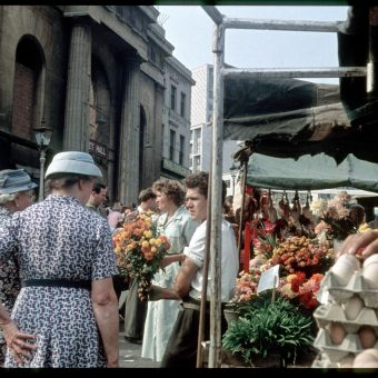 17 Colour Snapshots of Birmingham's Bull Ring Market (September 11 1959)