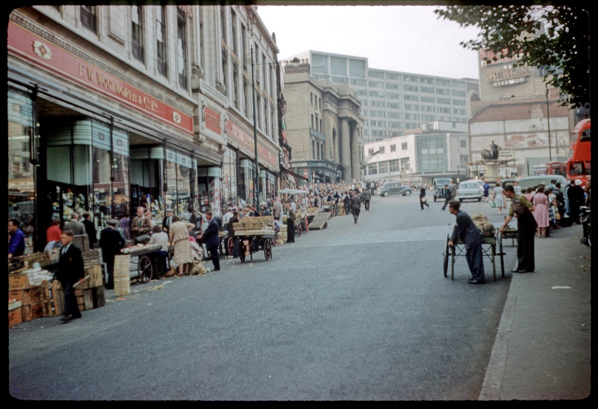 Birmingham Bull Ring Market September 1959