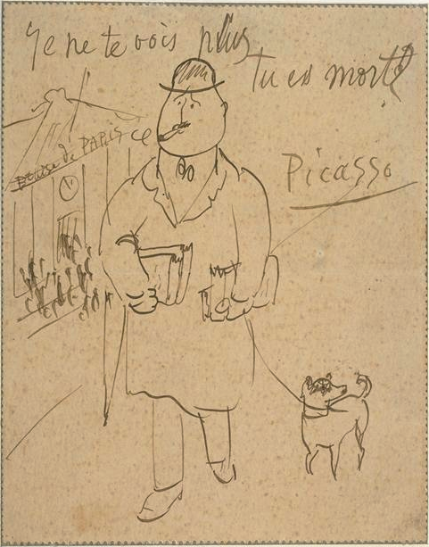 Picasso postcard to Guillaume Apollinaire