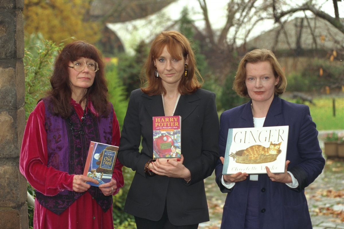 Authors Of Childrens Books From Left To Right Jenny Nimmo J.k (joanne)rowling And Charlotte Voake . Jk Rowling Authors Of Childrens Books From Left To Right Jenny Nimmo J.k (joanne)rowling And Charlotte Voake . Jk Rowling