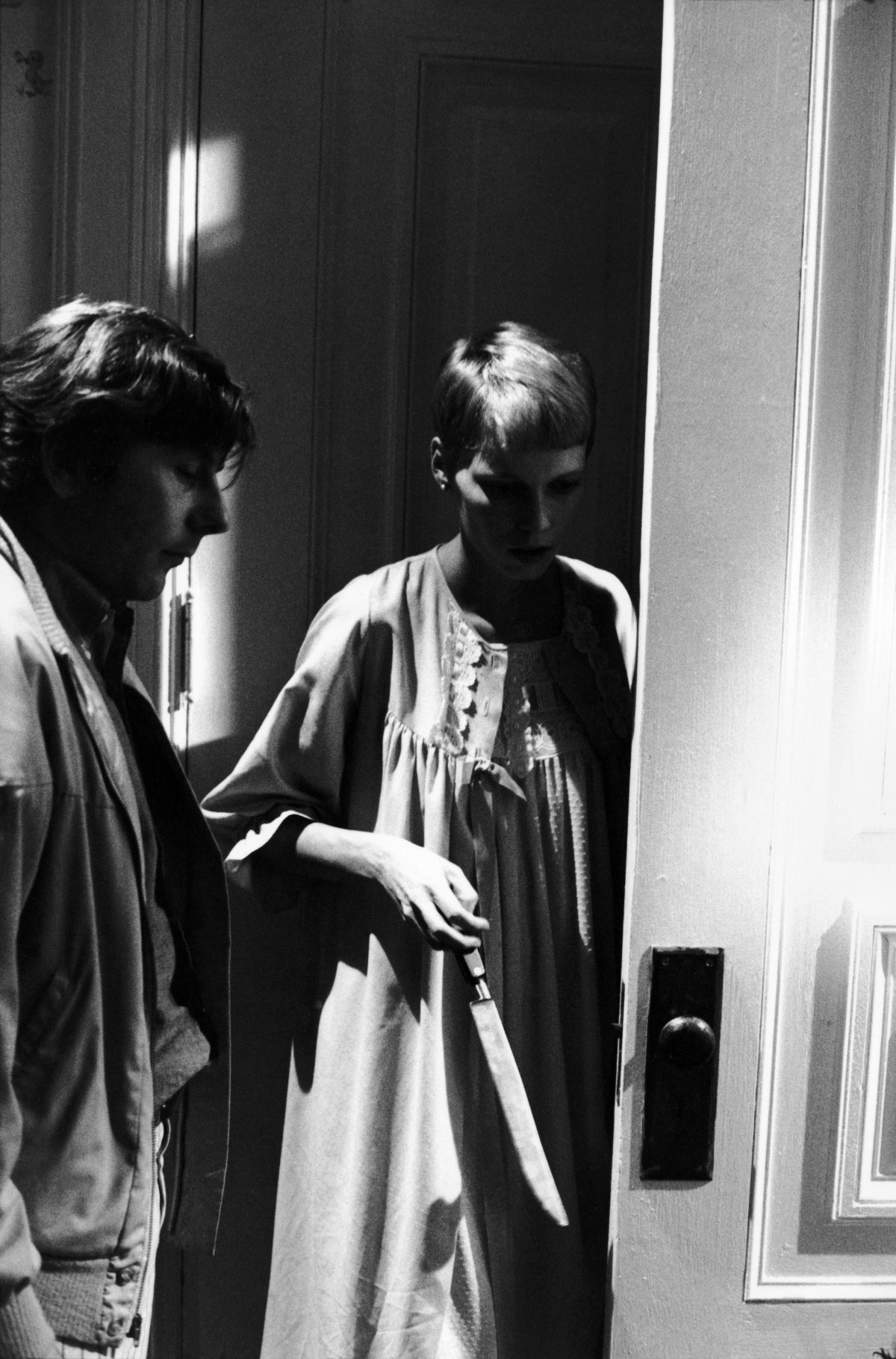 Mia Farrow and Roman Polanski Rosemary's baby