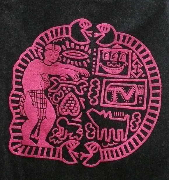 Detail of Haring graphic on Witches apron dress. This image (c) www.paulgormanis.com