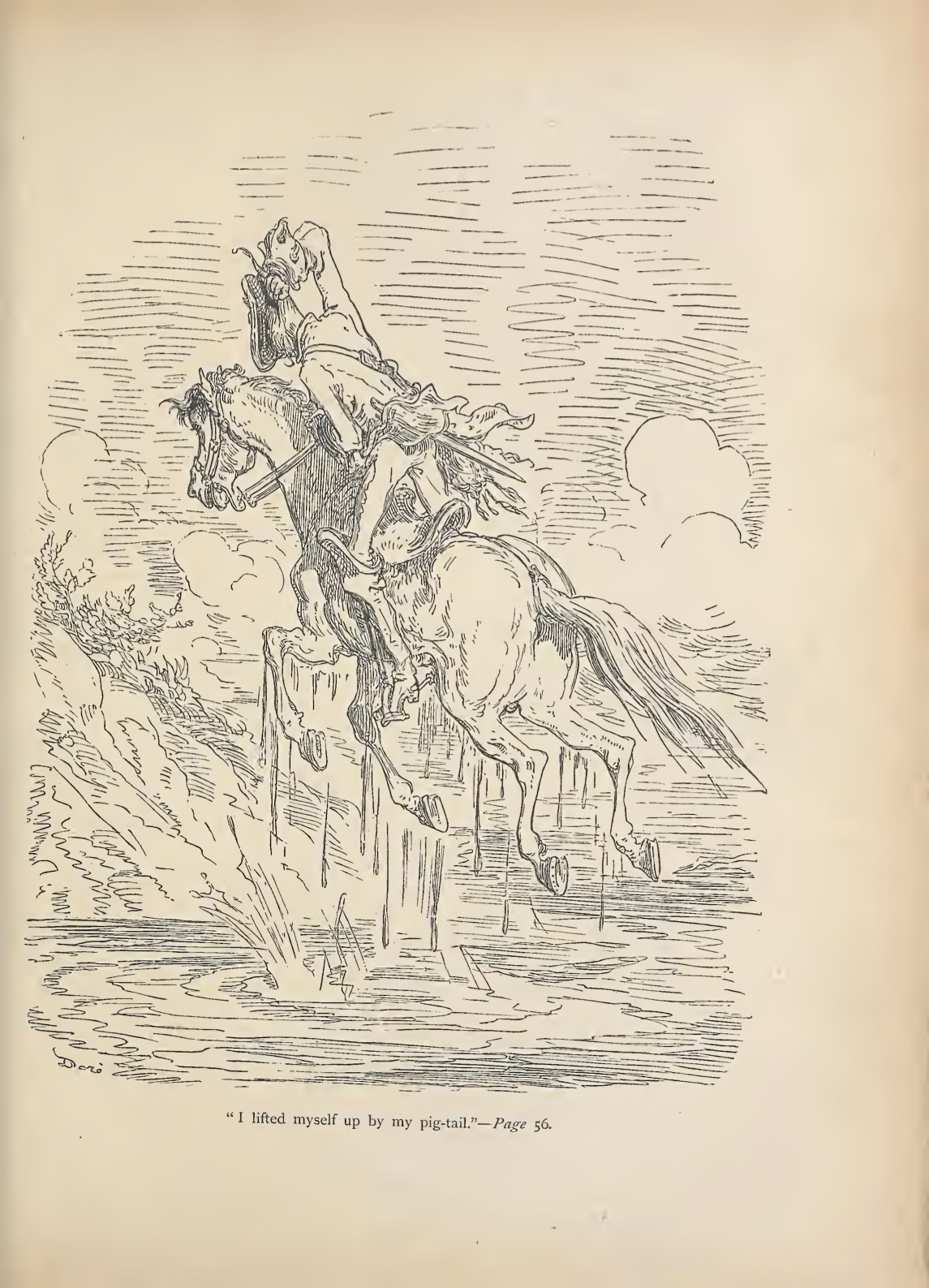 The adventures of Baron Munchausen by Doré, Gustave, 1832-1883