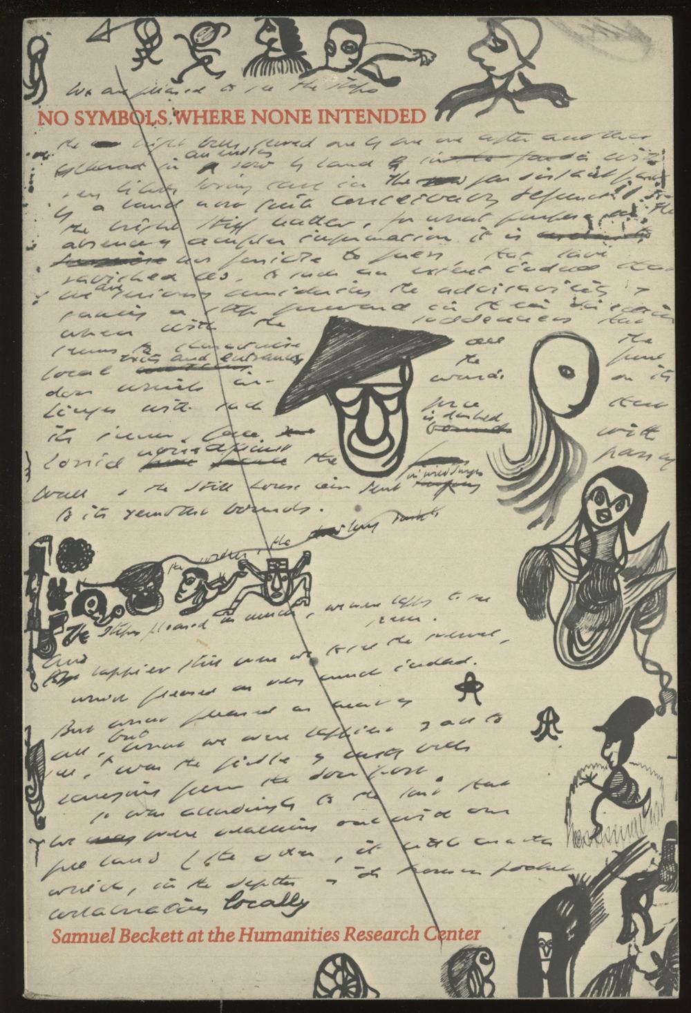 samuel beckett doodles watt