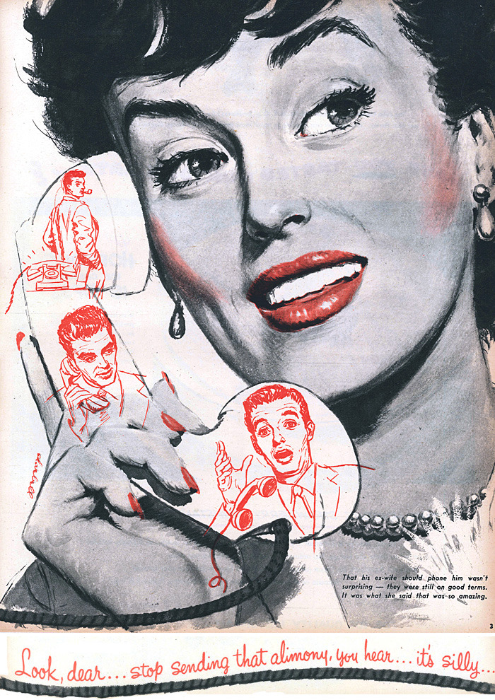Sunday Mirror Magazine, July 24, 1949. Illustration by Ed Vebell.