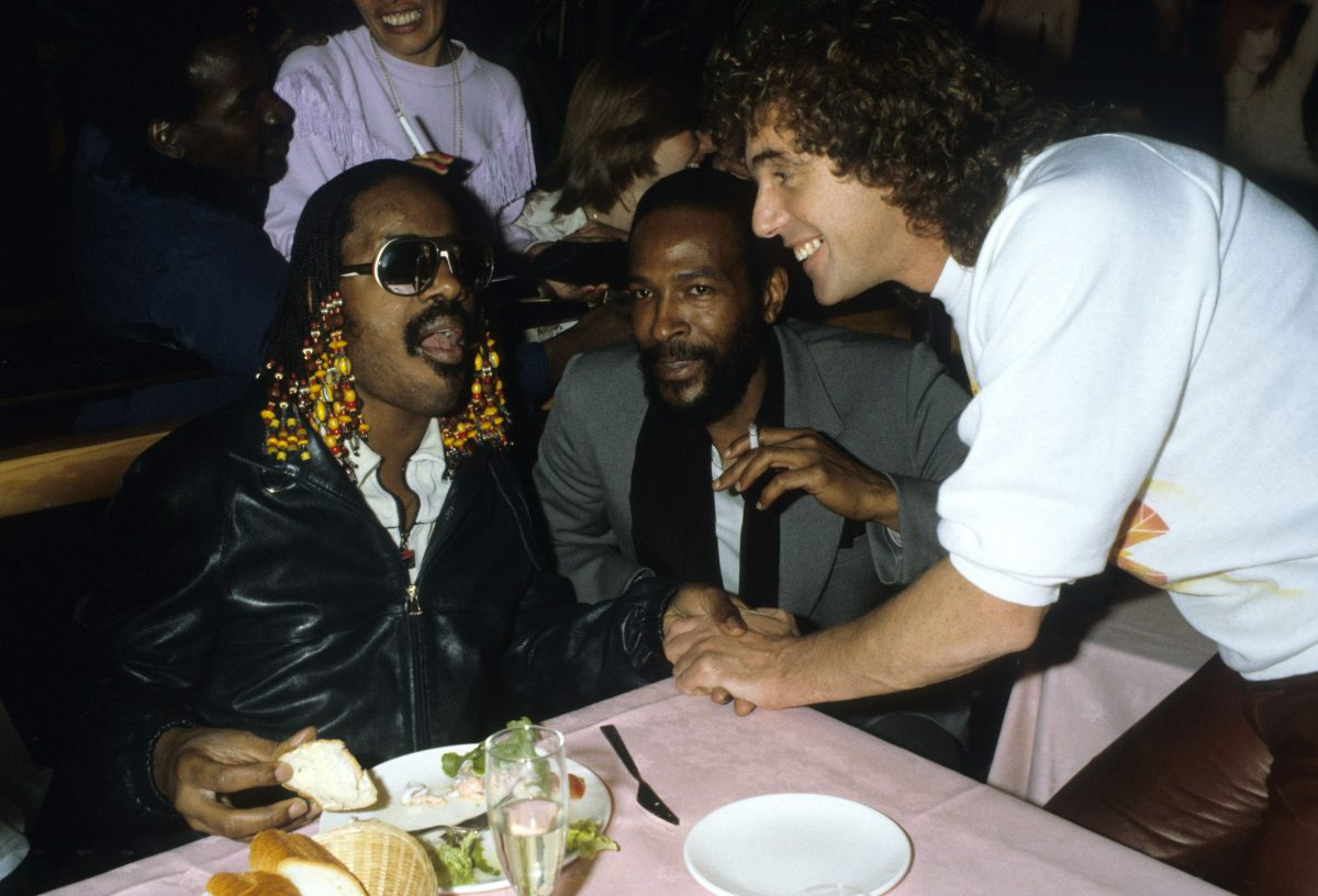 Stevie Wonder & Marvin Gaye Talk to Peter Stringfellow at Stringfellows Night Club where They Performed A Late Night Set Finishing at 5am 19 Jun 1981