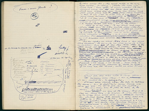 samuel beckett doodles drawing
