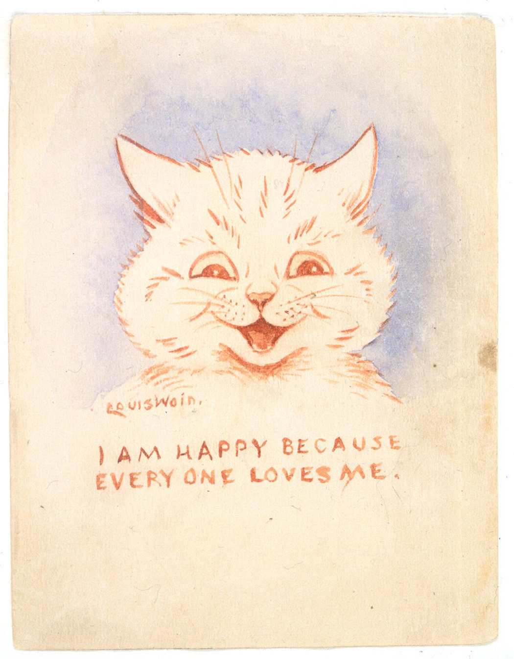 1928_Louis_Wain_IAmHappyBecauseEveryoneLovesMe