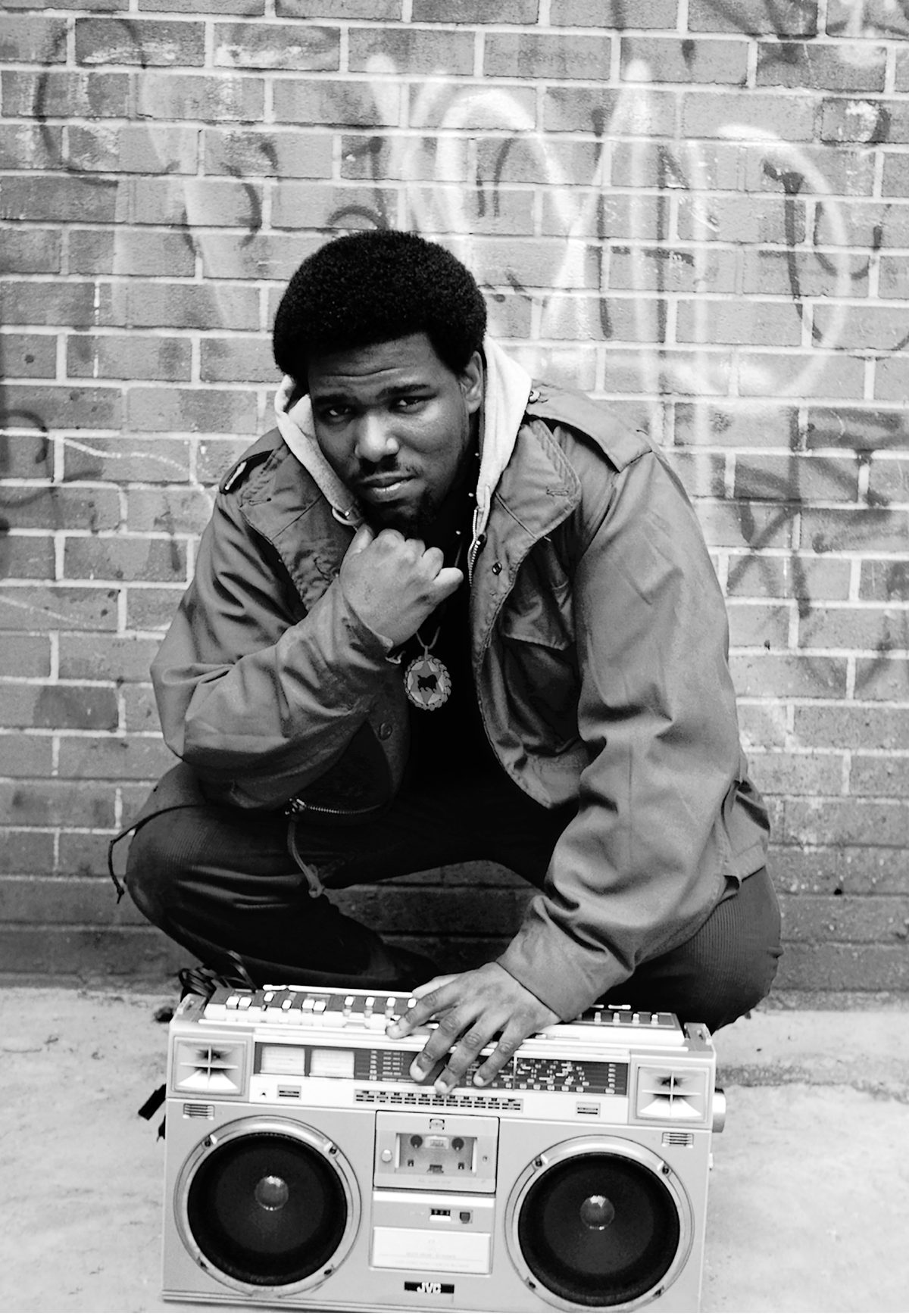 Afrika Bambataa 1980s NYC - by Janette Beckman
