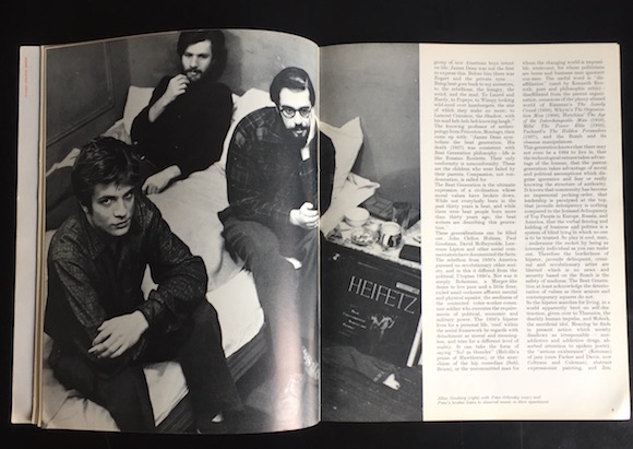 ARK 33, pp4-5, portrait of (from right) of Allen Ginsberg and Peter and Julius Orlovsky uncredited