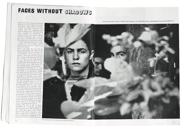 The opening spread of Faces Without Shadows,Town, September 1962. Photography: Don McCullin