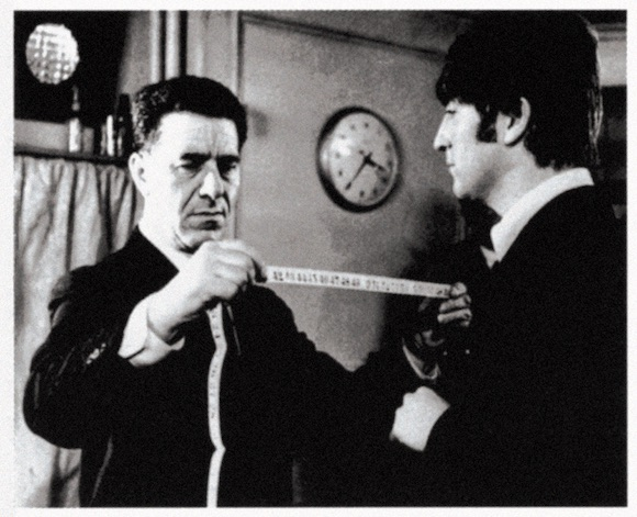 Dougie Millings with John Lennon on the set of A Hard Day's Night, spring 1964