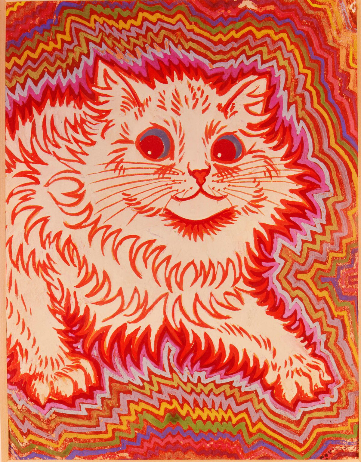 Advancing cat (Louis Wain)