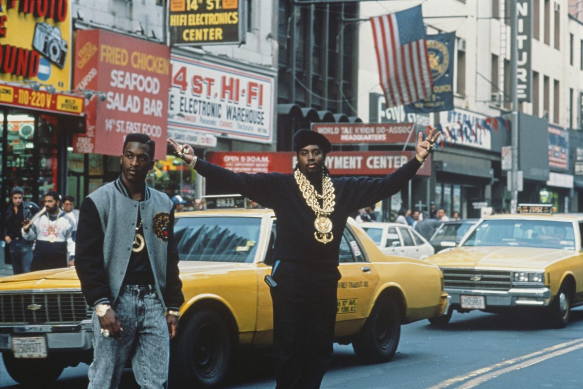 Eric B & Rakim in New York, circa 1989 American hip-hop duo Eric B & Rakim, who NPR's Tom Terrell would later dub 'the most influential DJ/MC combo in contemporary pop music', crossing 14th Street Photograph: Michael Ochs Archives/Getty Images