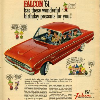 Charlie Brown, Lucy, and the Peanuts Gang Sell Ford Falcons in the Early 60s