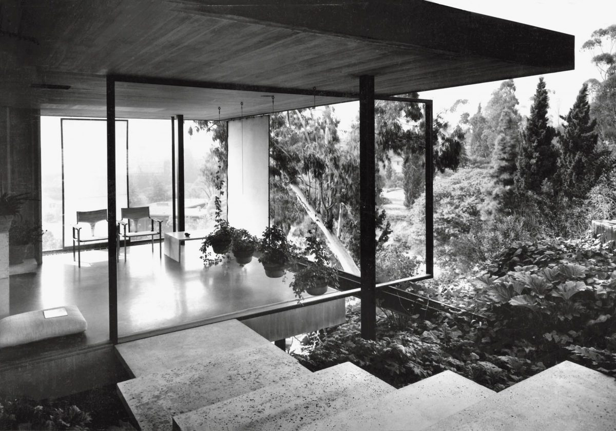 Thornton Ladd, Paul Tuttle House, Pasadena, 1952. Photo by Marvin Rand.