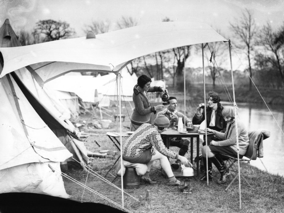 camping 1930s