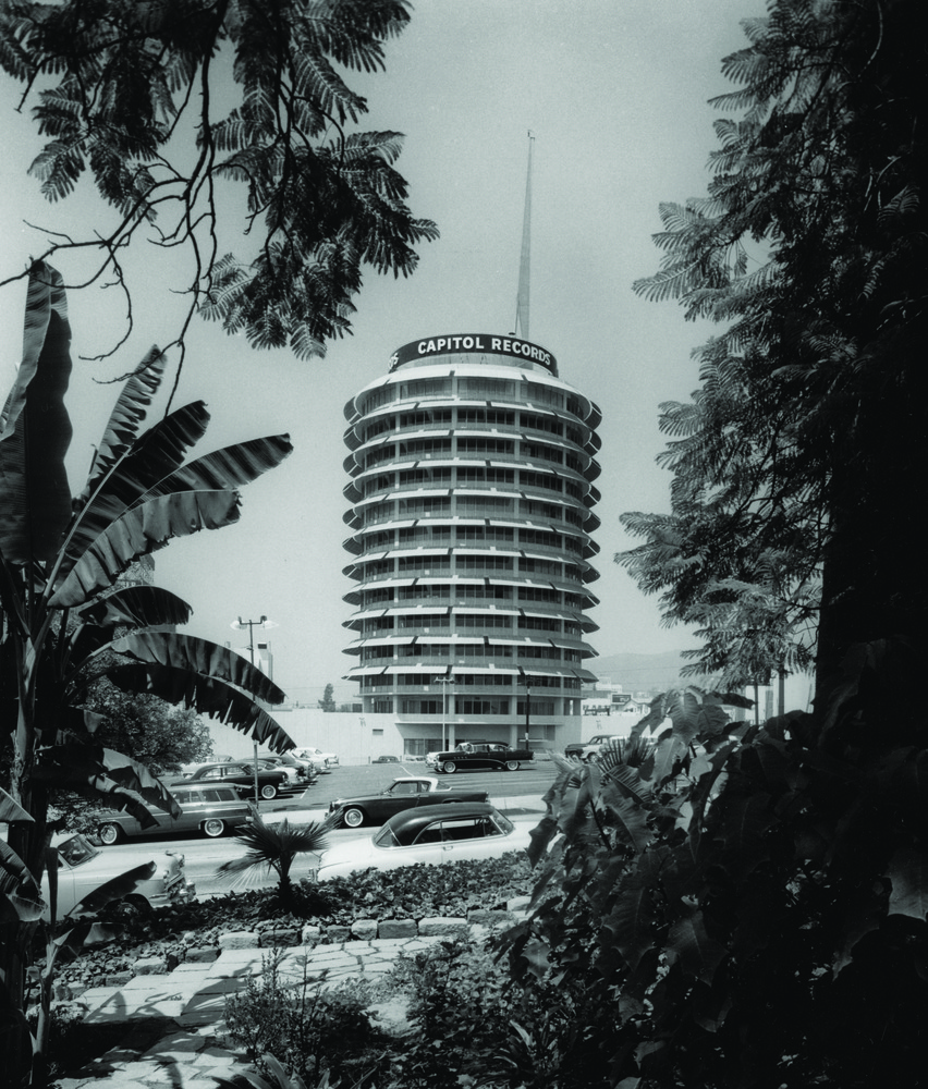 Welton Becket & Associates, Capitol Records, Hollywood, 1956