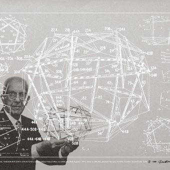 Buckminster Fuller Creates Striking, Two-Layer Posters to Illustrate His Life's Work in 1981