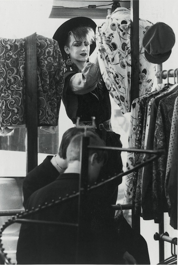 O'Dowd dressing The Regal window, Newburgh Street, central London, 1980. Photo: Boy George Collection