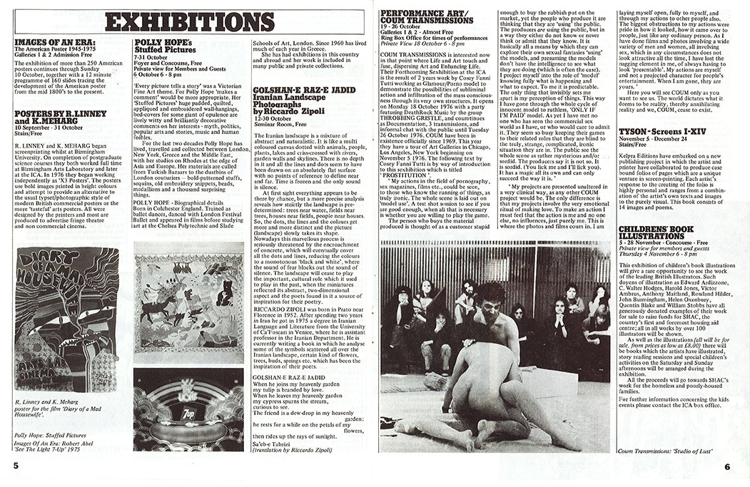 Prostution preview in ICA Bulletin for Oct/Dec 1976