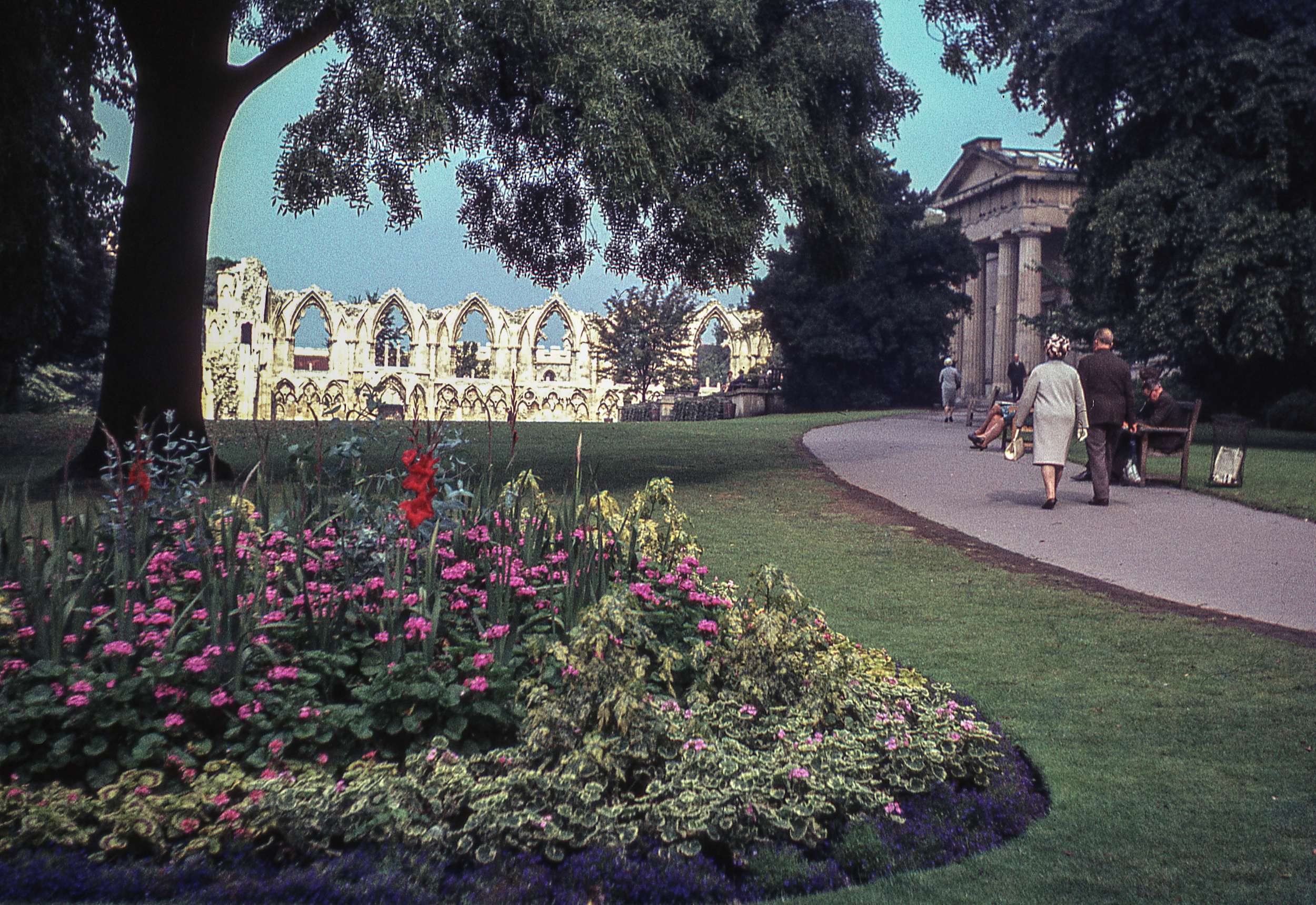 Benedictine Abbey of St Mary York England 1968 snapshot colour slide