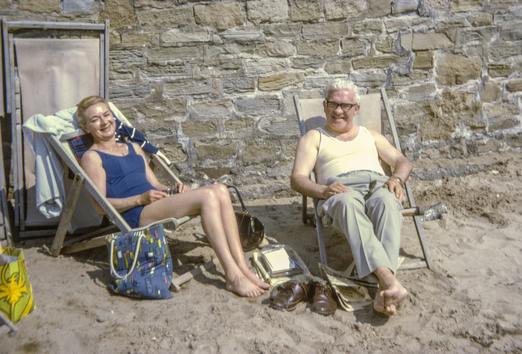 Snapshots kodachrome british beach 1950s 1960s