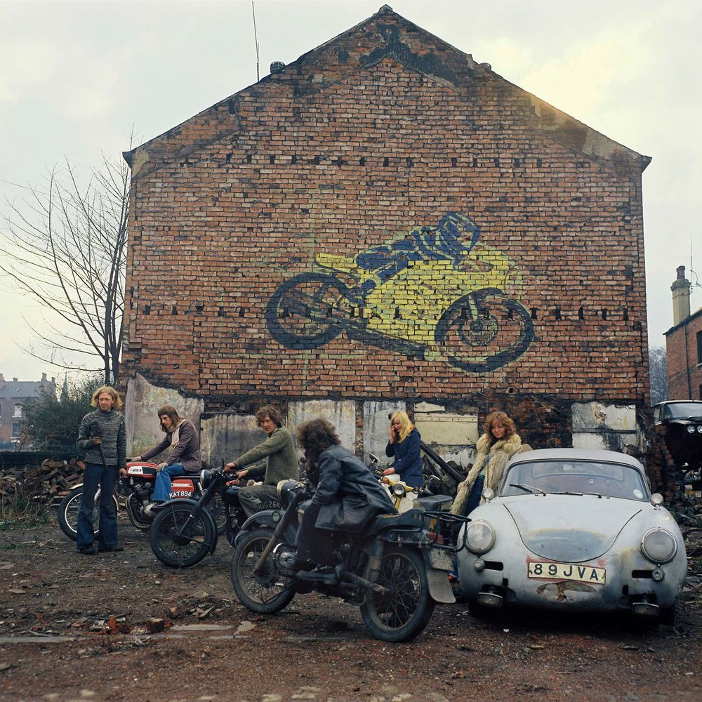 Leeds Kingston Racing Motors in Olinda Terrace, spring 1975