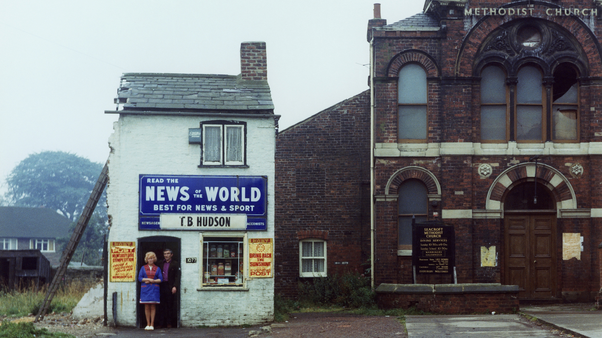 Hudson's newsagents, Seacroft Green, Leeds, in 1978