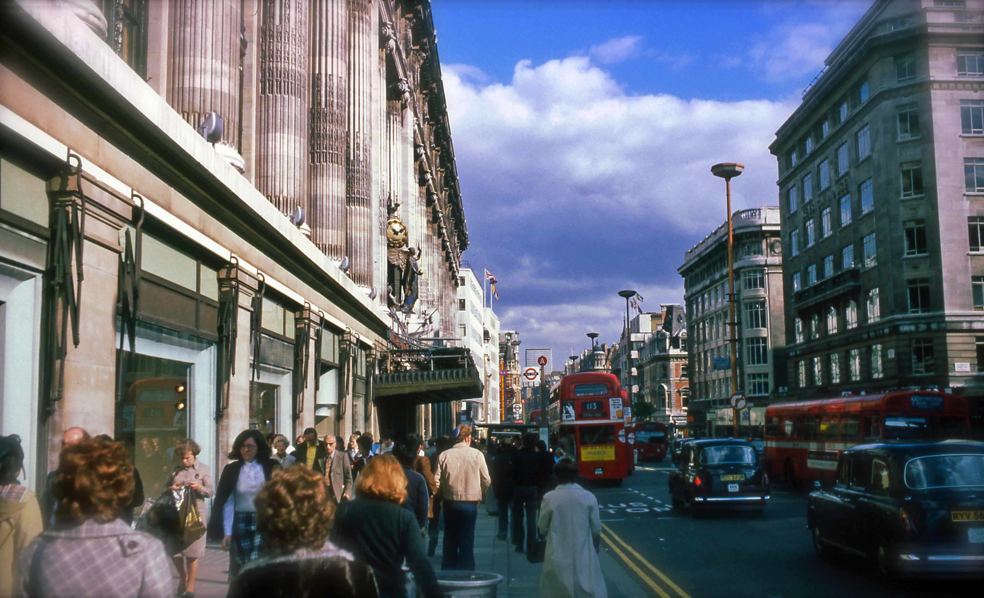 London 1977 1970s October snapshots Kodachrome