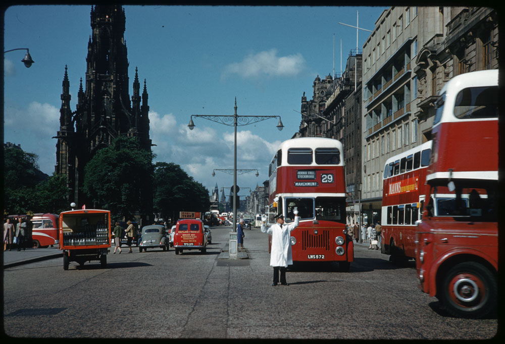 June 19, 1961 - Princes Street West from St. Andrew Edinburgh
