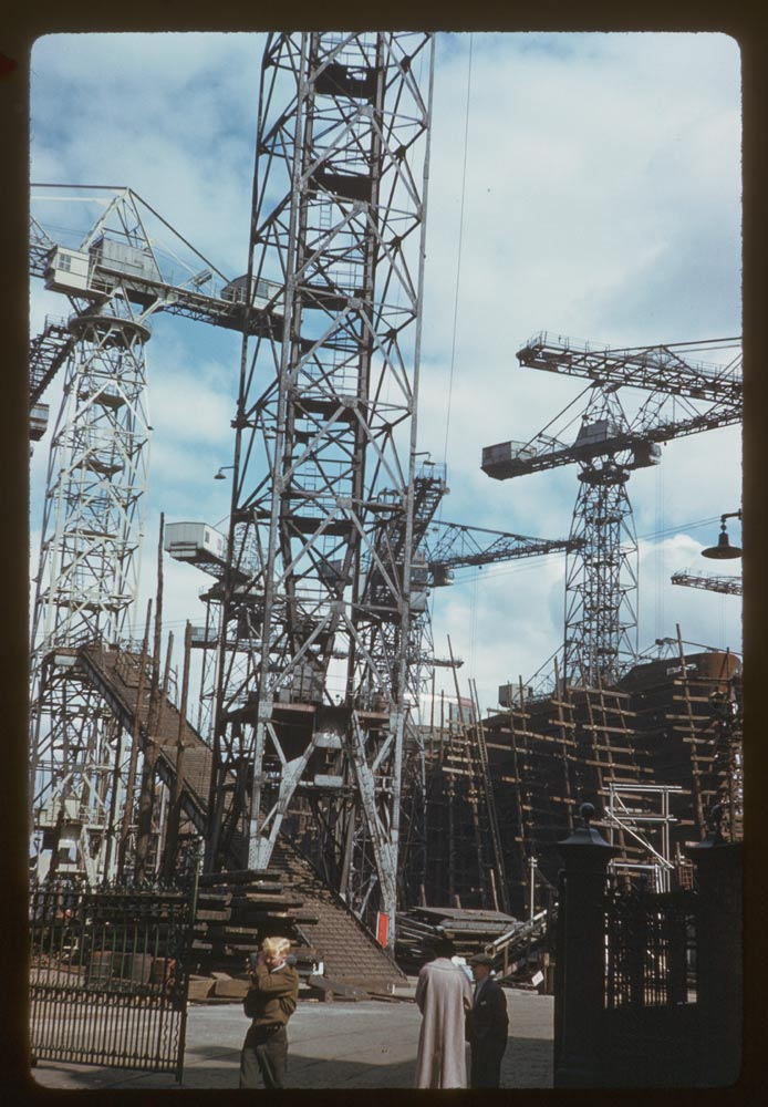 June 19, 1961 - Shipyard Cranes River Clyde Glasgow