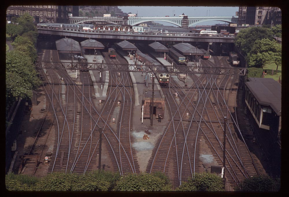 June 15, 1961 - Tracks entering Waverly Station Edinburgh